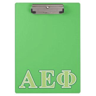 Alpha Epsilon Phi Green Letters 2 Clipboard