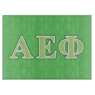 Alpha Epsilon Phi Green Letters 2 Cutting Board