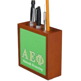 Alpha Epsilon Phi Green Letters 2 Desk Organiser