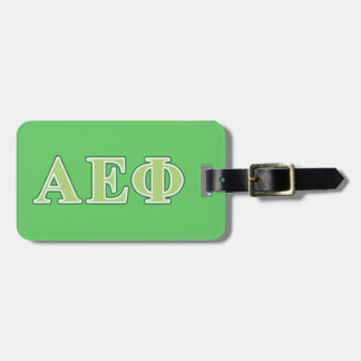 Alpha Epsilon Phi Green Letters 2 Luggage Tag