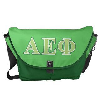 Alpha Epsilon Phi Green Letters 2 Messenger Bag