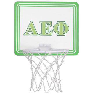 Alpha Epsilon Phi Green Letters 2 Mini Basketball Hoop