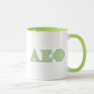 Alpha Epsilon Phi Green Letters 2 Mug