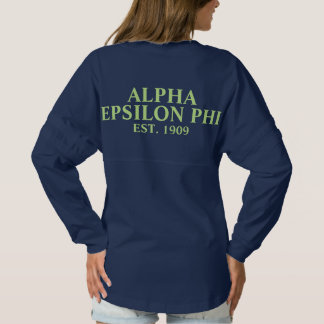Alpha Epsilon Phi Green Letters 2 Spirit Jersey
