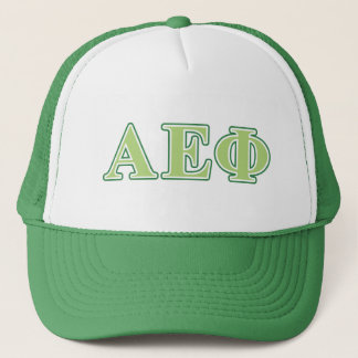 Alpha Epsilon Phi Green Letters 2 Trucker Hat