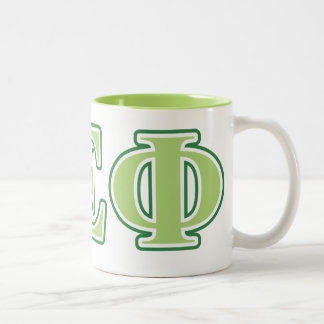 Alpha Epsilon Phi Green Letters 2 Two-Tone Coffee Mug