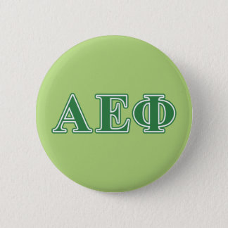 Alpha Epsilon Phi Green Letters 3 6 Cm Round Badge
