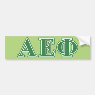Alpha Epsilon Phi Green Letters 3 Bumper Sticker