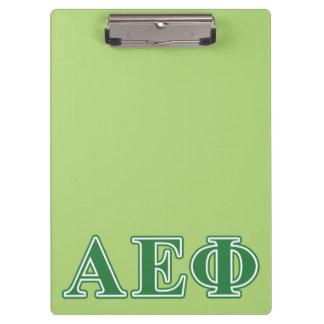 Alpha Epsilon Phi Green Letters 3 Clipboard