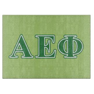 Alpha Epsilon Phi Green Letters 3 Cutting Board