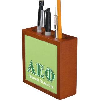 Alpha Epsilon Phi Green Letters 3 Desk Organiser