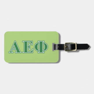 Alpha Epsilon Phi Green Letters 3 Luggage Tag