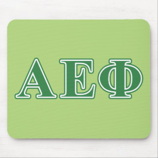 Alpha Epsilon Phi Green Letters 3 Mouse Mat