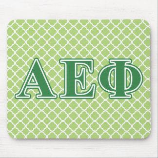 Alpha Epsilon Phi Green Letters 3 Mouse Pad