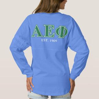 Alpha Epsilon Phi Green Letters 3 Spirit Jersey
