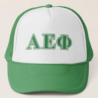 Alpha Epsilon Phi Green Letters 3 Trucker Hat