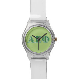 Alpha Epsilon Phi Green Letters 3 Watch