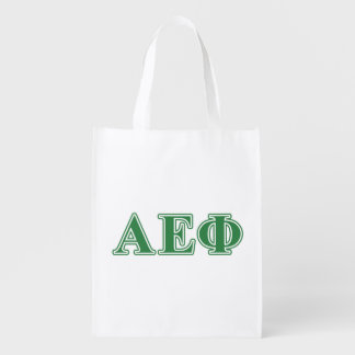 Alpha Epsilon Phi Green Letters 3 Market Tote