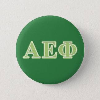 Alpha Epsilon Phi Green Letters 6 Cm Round Badge