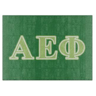 Alpha Epsilon Phi Green Letters Cutting Board