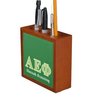 Alpha Epsilon Phi Green Letters Desk Organiser
