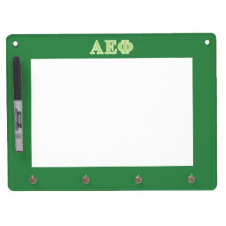 Alpha Epsilon Phi Green Letters Dry Erase Board With Key Ring Holder