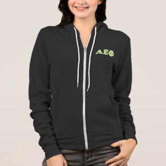 Alpha Epsilon Phi Green Letters Hoodie