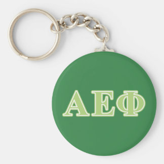 Alpha Epsilon Phi Green Letters Key Ring