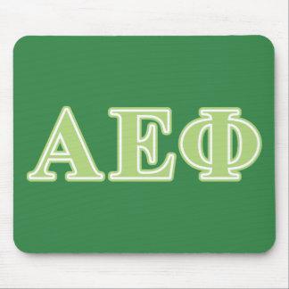 Alpha Epsilon Phi Green Letters Mouse Mat