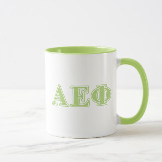 Alpha Epsilon Phi Green Letters Mug