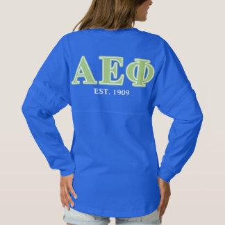Alpha Epsilon Phi Green Letters Spirit Jersey