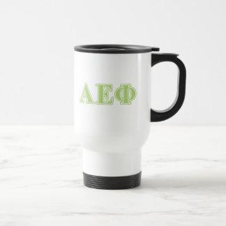 Alpha Epsilon Phi Green Letters Travel Mug