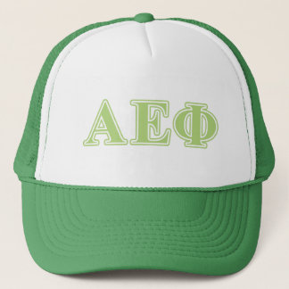 Alpha Epsilon Phi Green Letters Trucker Hat