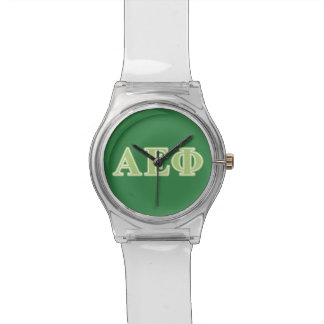 Alpha Epsilon Phi Green Letters Watch
