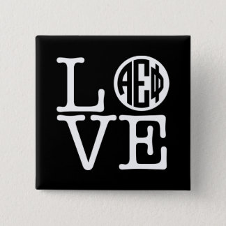 Alpha Epsilon Phi | Love 15 Cm Square Badge