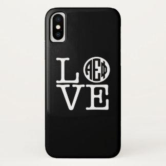 Alpha Epsilon Phi | Love iPhone X Case