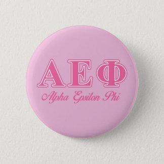 Alpha Epsilon Phi Pink Letters 6 Cm Round Badge