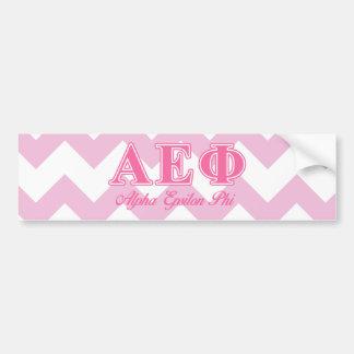 Alpha Epsilon Phi Pink Letters Bumper Sticker