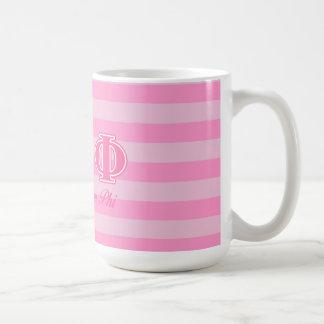 Alpha Epsilon Phi Pink Letters Coffee Mug