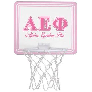 Alpha Epsilon Phi Pink Letters Mini Basketball Hoop