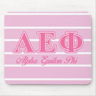 Alpha Epsilon Phi Pink Letters Mouse Mat