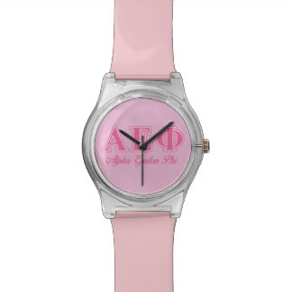 Alpha Epsilon Phi Pink Letters Watch