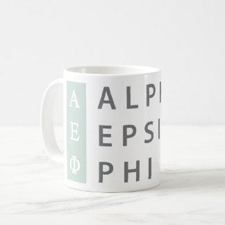 Alpha Epsilon Phi | Stacked Logo Coffee Mug