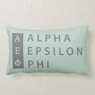 Alpha Epsilon Phi | Stacked Logo Lumbar Cushion