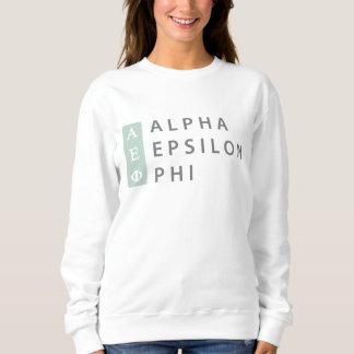 Alpha Epsilon Phi | Stacked Logo Sweatshirt
