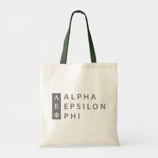 Alpha Epsilon Phi | Stacked Logo Tote Bag