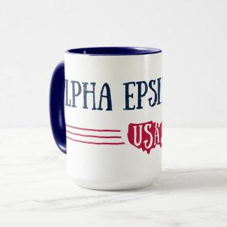Alpha Epsilon Phi - USA Mug