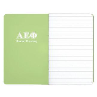 Alpha Epsilon Phi White and Green Letters Journal