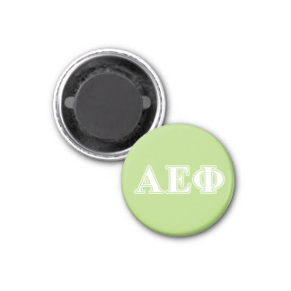 Alpha Epsilon Phi White and Green Letters Magnet
