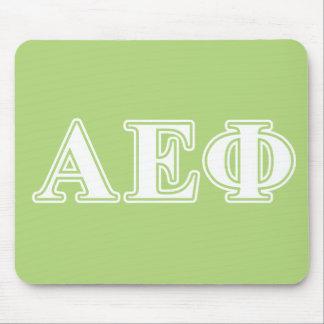 Alpha Epsilon Phi White and Green Letters Mouse Mat